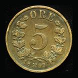 Норвегия 5 эре 1899, фото №2