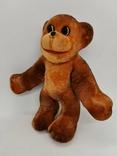 Обезьяна мартышка обезьянка поролоновая флоковая игрушка СССР поролон флок редкая 19 см., фото №2