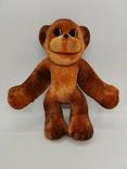 Обезьяна мартышка обезьянка поролоновая флоковая игрушка СССР поролон флок редкая 19 см., фото №6
