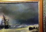 Копия картины худ .Айвазовского.(маринизм)-масло-холст, фото №4