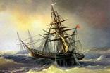 Копия картины худ .Айвазовского.(маринизм)-масло-холст, фото №7