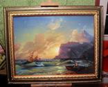 Копия картины худ .Айвазовского.(маринизм)-масло-холст, фото №2