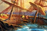 Копия картины худ .Айвазовского.(маринизм)-масло-холст, фото №9