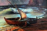 Копия картины худ .Айвазовского.(маринизм)-масло-холст, фото №10