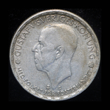 Швеция крона 1943 серебро, фото №2