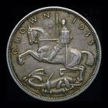 Великобритания крона 1935  серебро, фото №3