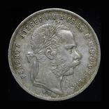 Венгрия форинт 1877 аUnc серебро, фото №3