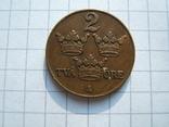 Швеция 2 эре 1928 г.  KM#778, фото №2