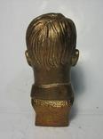 Бюст Адольф Гитлер вар.2, материал бронза и накладки Браунинг 1910. копии, фото №6