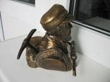 Бюст Горный егерь Вермахт, материал бронза и накладка Маузер 1910. копии, фото №5