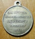 КОПИЯ медаль за труды по первой всеобщей переписи населения 1987 год, фото №2