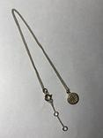 Кулон на цепочке из серебра 925° 2,40 гр., фото №6