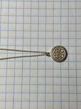 Кулон на цепочке из серебра 925° 2,40 гр., фото №8