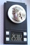 Серебряная цепь с открывающимся кулоном, фото №6