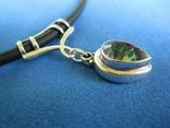 Кулон серебро и камень на резиновом шнурке., фото №6