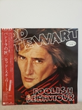 "Vinyl. ""Rod Stewart ‎– Foolish Behaviour"" giant 2-sided poster, OBI, фото №2"