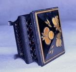 Шкатулка інкрустована соломкою, фото №4