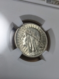 2 злотих 1934 р. Ядвіга.Слаб NGC, MS 62, фото №3