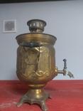 Электросамовар латунный, фото №3