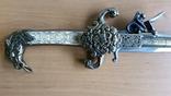 Винтажный кремневый пистолет Ketland - копия кинжала, фото №7