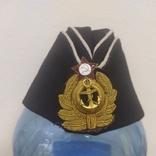 Пилотка ВМФ СССР с кокардой. Шитье канителью. Размер 55, фото №2