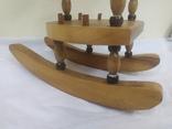 Деревянный стульчик-подставка для бутылки. Высота 27см, фото №5