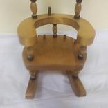 Деревянный стульчик-подставка для бутылки. Высота 27см, фото №6