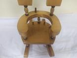 Деревянный стульчик-подставка для бутылки. Высота 27см, фото №7