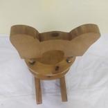 Деревянный стульчик-подставка для бутылки. Высота 27см, фото №10