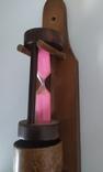 Стопки і пішчаний годинник з дерева, фото №6