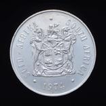 1 Рэнд 1974 50 Лет Монетному Двору Претории (Серебро 0.925, 15г), ЮАР, фото №3