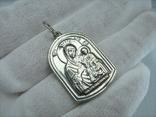 Серебряный Кулон Святой Николай Чудотворец Богородица Тверская Серебро 925 проба 914 фото 2