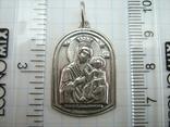 Серебряный Кулон Святой Николай Чудотворец Богородица Тверская Серебро 925 проба 914 фото 4