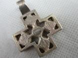 Хрест, винтаж  серебро 925, фото №4