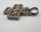 Хрест, винтаж  серебро 925, фото №5