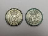 2 монеты по 10 оре, Дания, 1918 г, фото №3