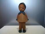 Резиновая игрушка - пищалка ,, Девочка в платочке ,, клеймо, фото №2