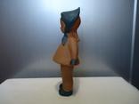 Резиновая игрушка - пищалка ,, Девочка в платочке ,, клеймо, фото №3