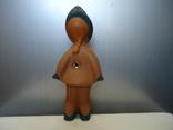 Резиновая игрушка - пищалка ,, Девочка в платочке ,, клеймо, фото №4