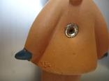 Резиновая игрушка - пищалка ,, Девочка в платочке ,, клеймо, фото №5