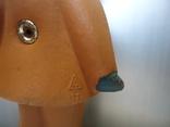 Резиновая игрушка - пищалка ,, Девочка в платочке ,, клеймо, фото №6