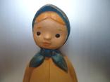 Резиновая игрушка - пищалка ,, Девочка в платочке ,, клеймо, фото №9