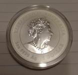 2021 г - 1 доллар Австралии,год Быка,унция серебра в капсуле, фото №3