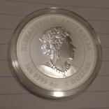 2021 г - 1 доллар Австралии,год Быка,унция серебра в капсуле, фото №4