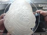 Серебряная Банкнота 100 долларов США.4 унции серебра 999.9 пробы. С 1 гривны., фото №4