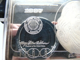 Серебряная Банкнота 100 долларов США.4 унции серебра 999.9 пробы. С 1 гривны., фото №6