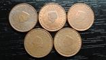 1 євроцент Нідерланди (порічниця) 5шт, всі різні, фото №2