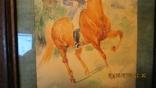 """И. Чаплинская  """"Норовистый конь""""  Акварель, фото №5"""