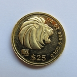 25 долларов 1993 г. Сингапур (1/4 oz. 999,9), фото №2