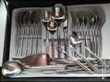 Комплект приборов WMF  в чемодане Германия 25 предметов, фото №11